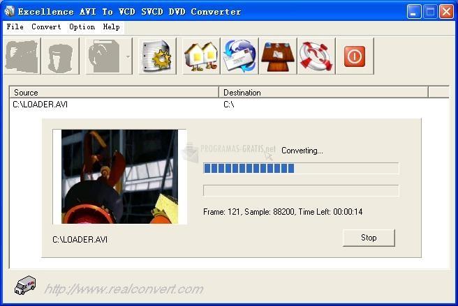 Pantallazo Real AVI to VCD SVCD DVD Converter