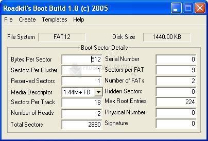 Pantallazo Roadkil´s Boot Builder