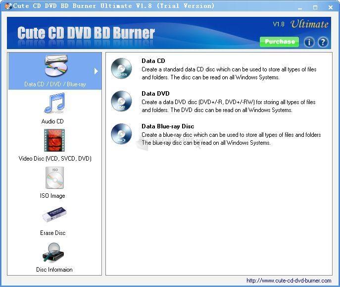 Pantallazo Cute CD DVD BD Burner Standard