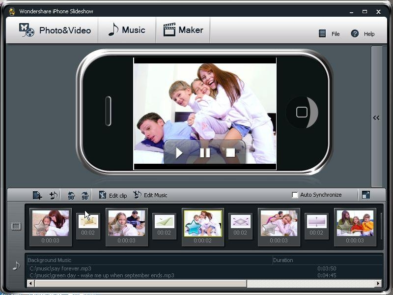Pantallazo Wondershare iPhone Slideshow