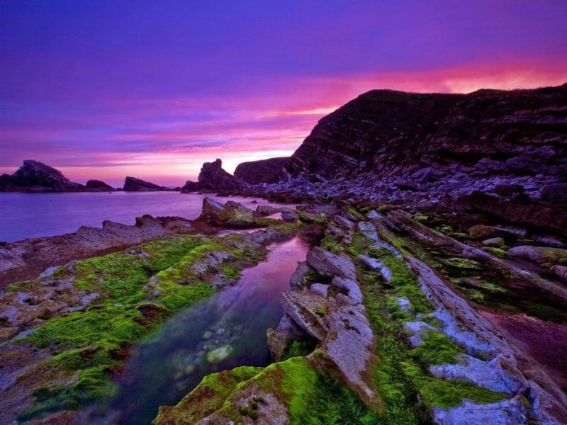 Pantallazo Cielo púrpura