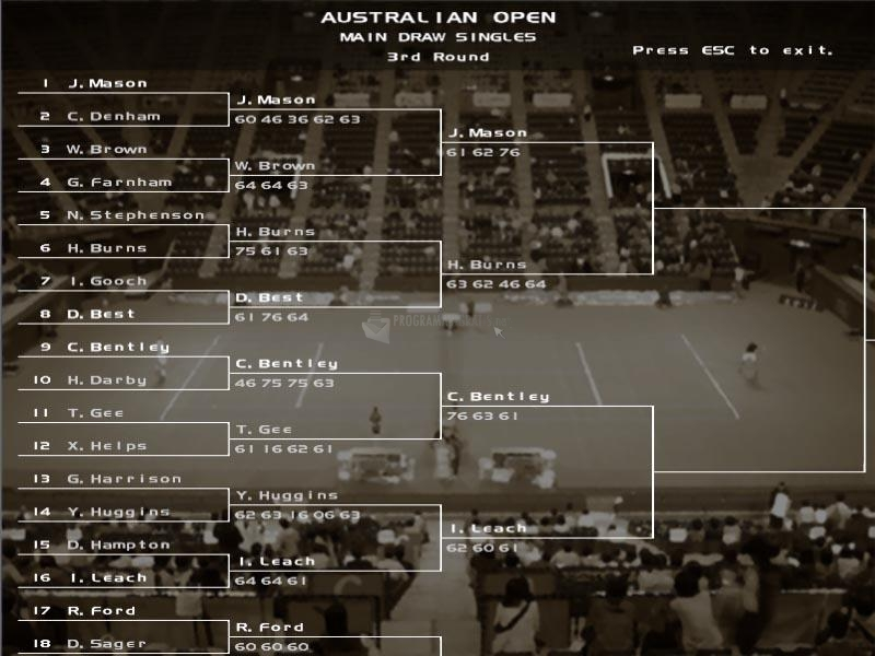 Pantallazo Dream Match Tennis Pro