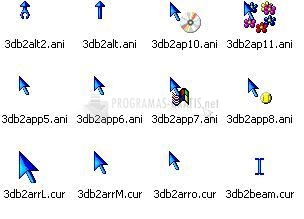 Pantallazo 3D Blue Animated Cursors