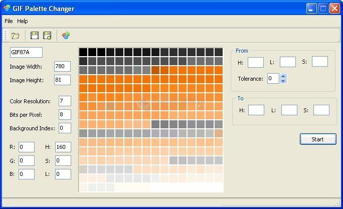 Pantallazo GIF Palette Changer