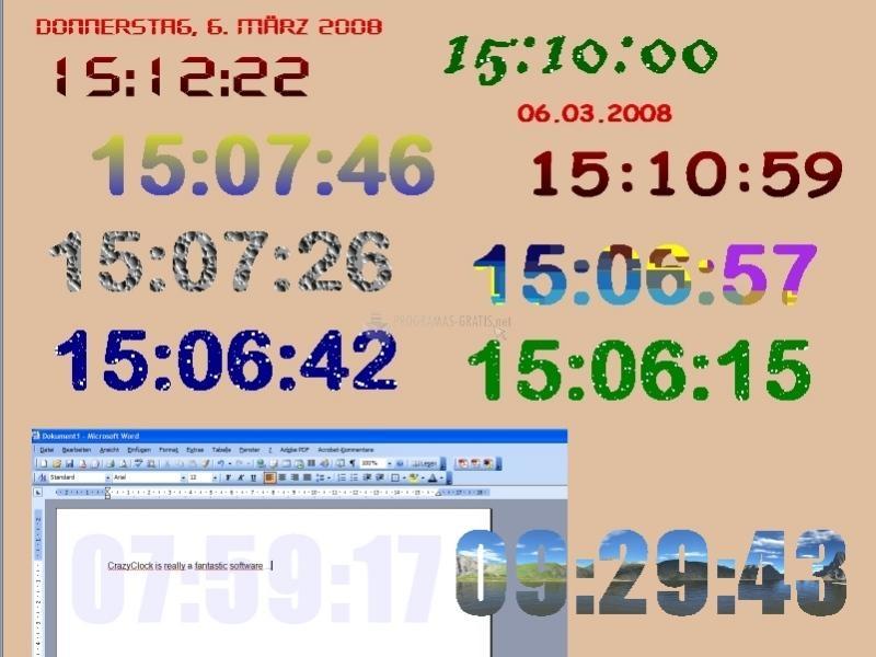 Pantallazo Crazy Clock