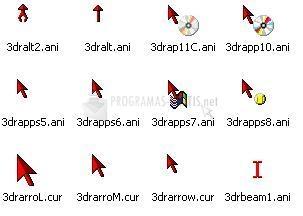 Pantallazo 3D Red Animated Cursors
