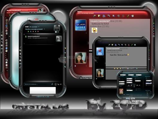Pantallazo Crystal Lab Skin for Windows Live Messenger