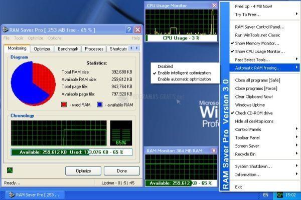 Pantallazo RAM Saver Pro