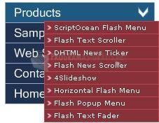 Pantallazo Flash Popup Menu Builder