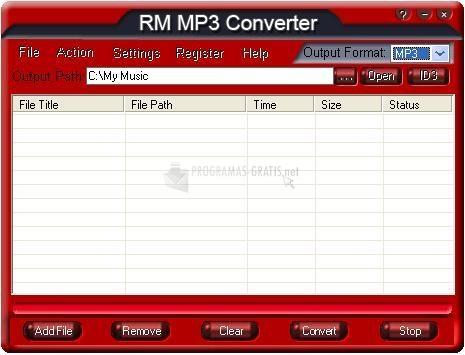 Pantallazo RM MP3 Converter