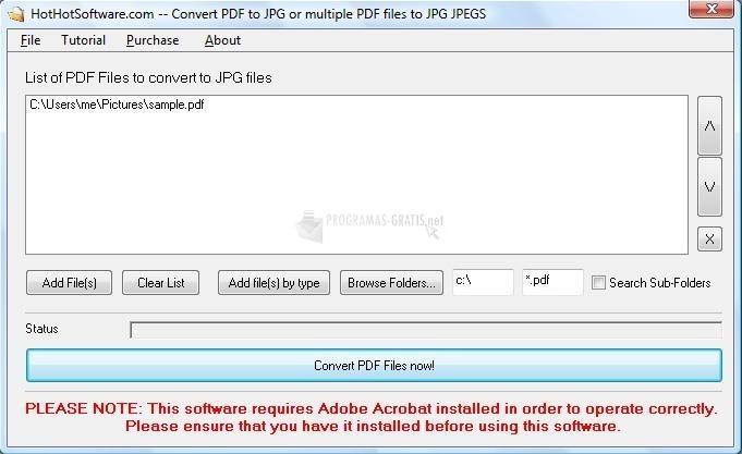 Pantallazo Convert PDF to JPG