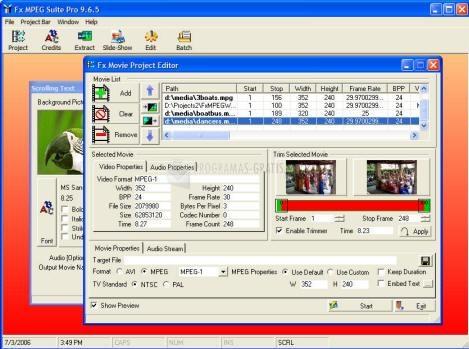 Pantallazo Fx MPEG Suite