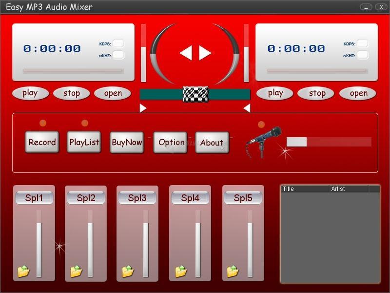 Pantallazo Easy MP3 Audio Mixer