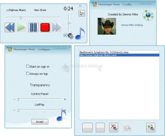 Pantallazo Messenger Music
