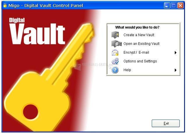 Pantallazo Digital Vault