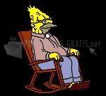 Pantallazo Abuelo Simpson roncando