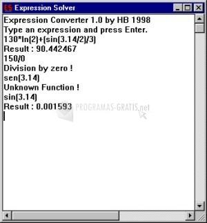 Pantallazo Expression Solver