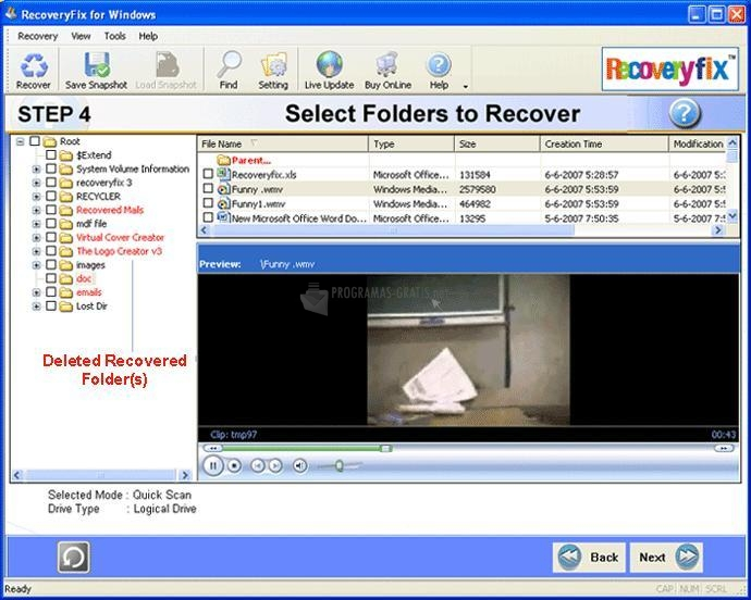 Pantallazo RecoveryFIX for Windows