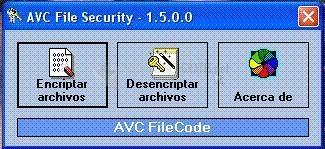 Pantallazo AVC File Security