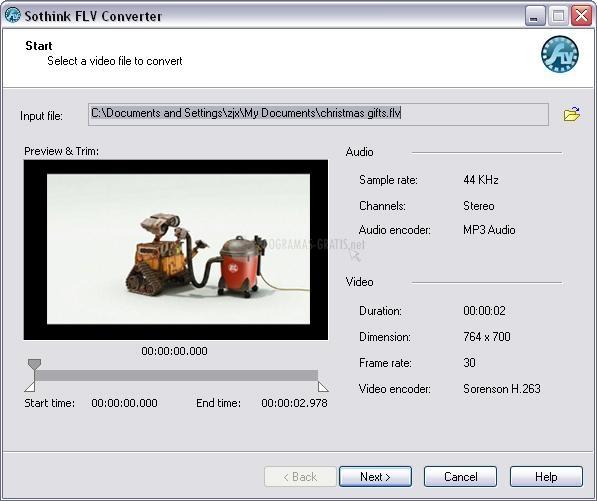 Pantallazo Sothink FLV Converter