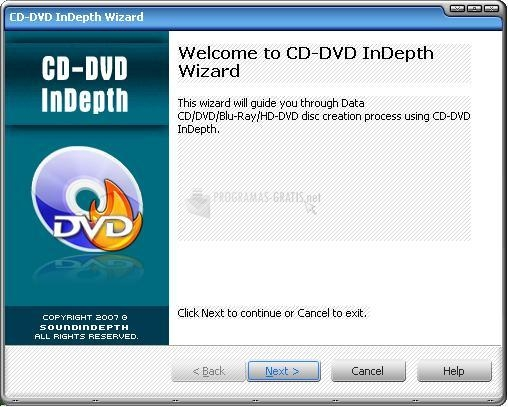Pantallazo CD-DVD InDepth