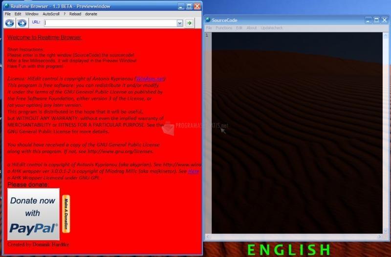 Pantallazo RealTime Browser
