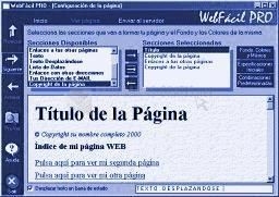Pantallazo WebFácil PRO