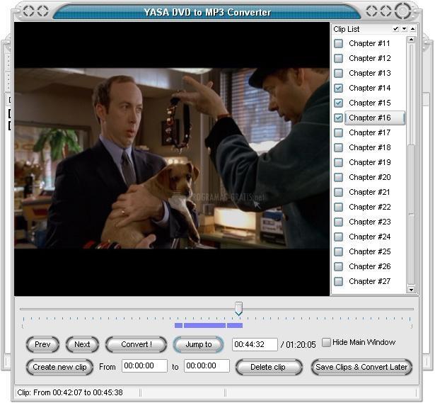 Pantallazo Yasa DVD to MP3 Converter