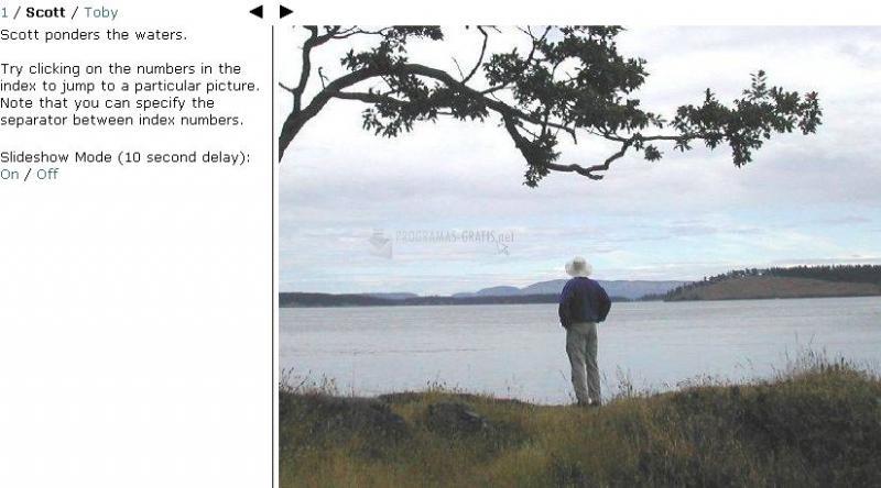 Pantallazo JavaScript Photo Viewer