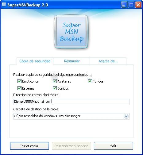 Foto Super MSN Backup