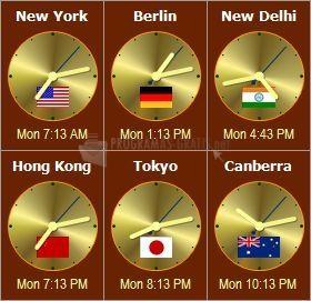 Pantallazo Sharp World Clock