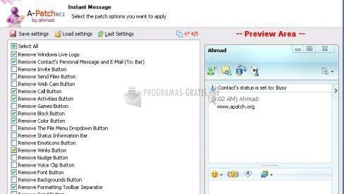 Pantallazo A-Patch for Windows Live Messenger 8.0