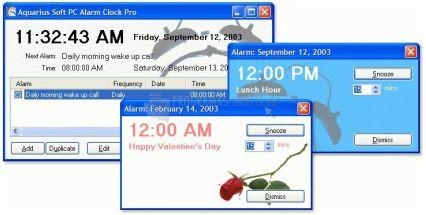 Pantallazo Aquarius PC Alarm Clock Pro