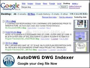 Pantallazo DWG Indexer for Google