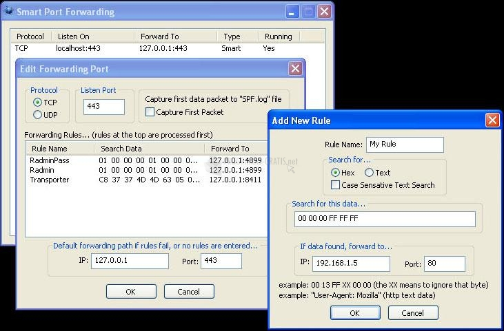 Pantallazo Smart Port Forwarding
