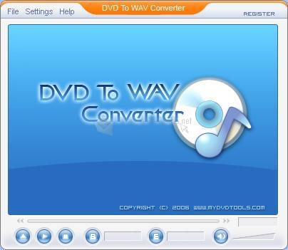 Pantallazo DVD to WAV Converter