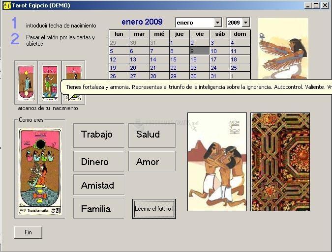 Pantallazo Tarot Egipcio