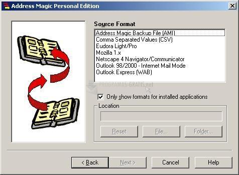 Pantallazo Address Magic Personal