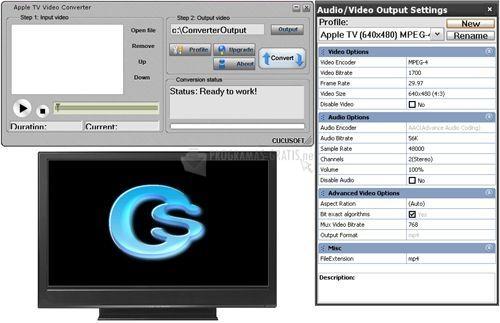 Pantallazo Cucusoft Apple TV Video Converter