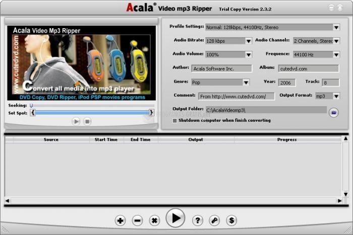 Pantallazo Acala Video MP3 Ripper
