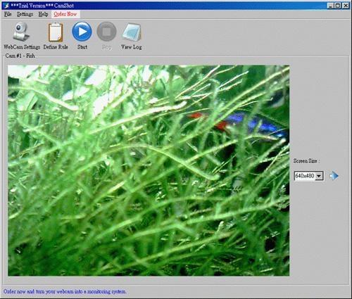 Pantallazo CamShot Monitoring Software