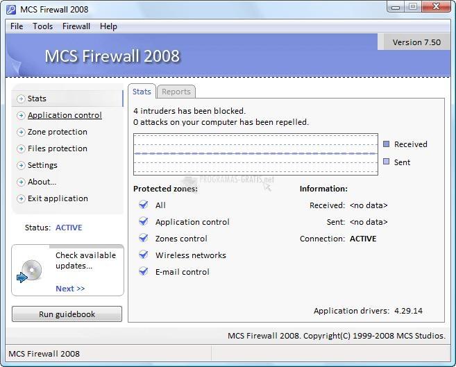 Pantallazo MCS Firewall