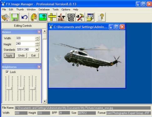 Pantallazo Fx Image Manager Pro