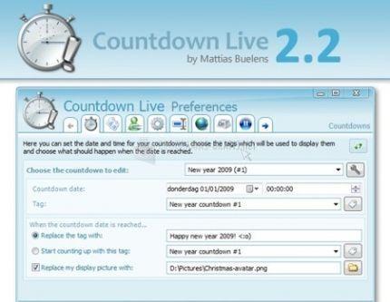 Pantallazo Script Countdown Live