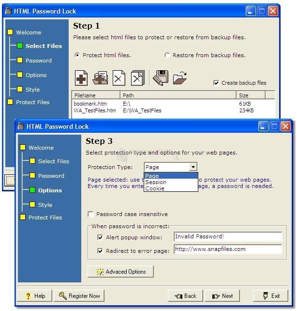 Pantallazo HTML Password Lock