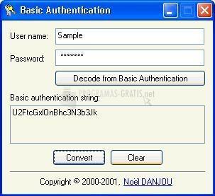 Pantallazo Basic Authentication