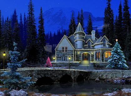 Pantallazo Free Christmas Cottage ScreenSaver