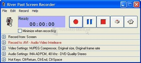 Pantallazo River Past Screen Recorder Pro