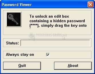 Pantallazo Password Viewer