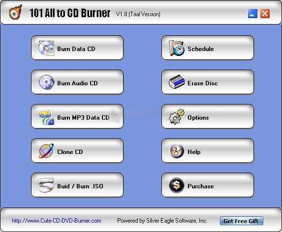 Pantallazo 101 All to CD Burner